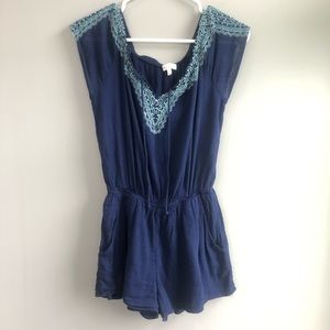 Red Camel Navy Shorts Romper Size S